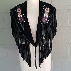 NEW PRICE!!!! Fringed beaded capelet